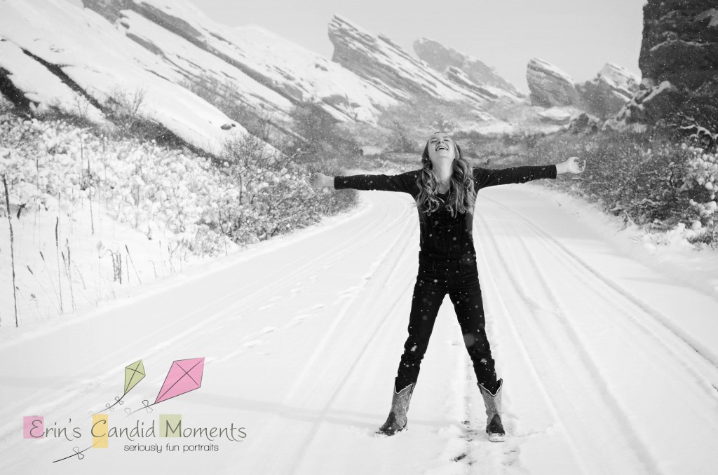 snowy red rocks photography